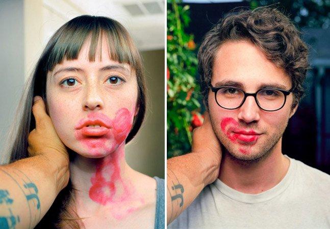 Fotógrafo sai às ruas beijando estranhos na boca e registrando suas expressões