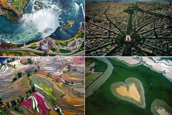 Impressionantes fotos aéreas mostram famosos pontos turísticos como você nunca viu antes