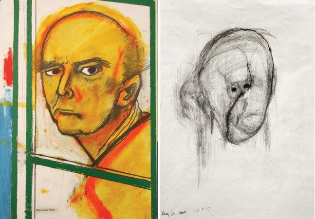 Pintor com Alzheimer faz auto-retratos registrando o avanço de sua doença
