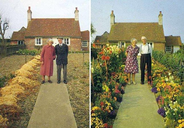 Esse casal de velhinhos tirou a mesma foto juntos em diferentes estações. A última delas vai partir seu coração.