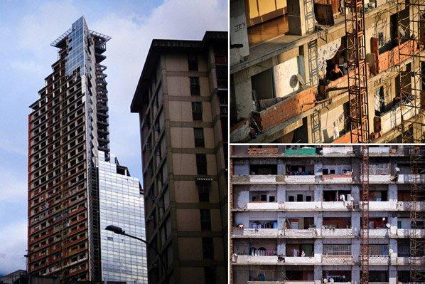 A favela mais alta do mundo fica num prédio de 45 andares e tem até circulação de motos interna