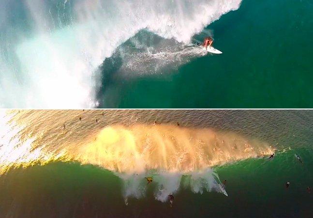 Quando um drone e uma GoPro se unem, o resultado são as cenas de surf mais incríveis que você já viu