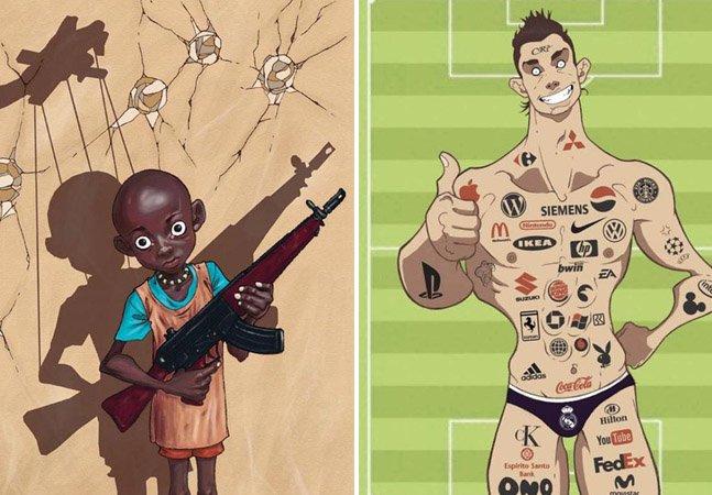 Como um artista conseguiu fazer críticas certeiras à sociedade com suas impactantes ilustrações