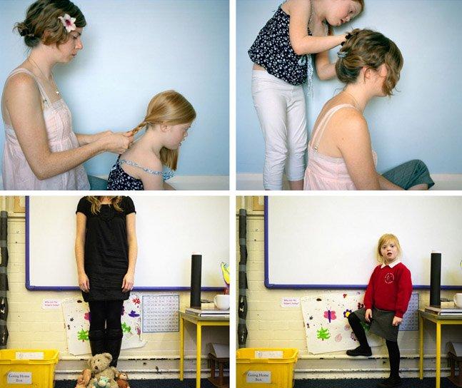 Mãe cria série fotográfica em parceria com a filha que tem Síndrome de Down