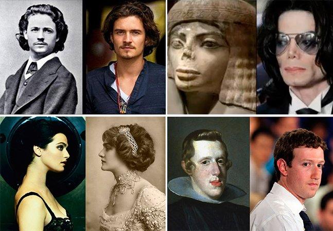 Site reúne fotos de famosos que se parecem com pessoas do passado