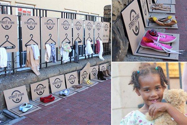 """ONG cria """"loja"""" na qual moradores de rua podem escolher as roupas que quiserem e levá-las de graça"""
