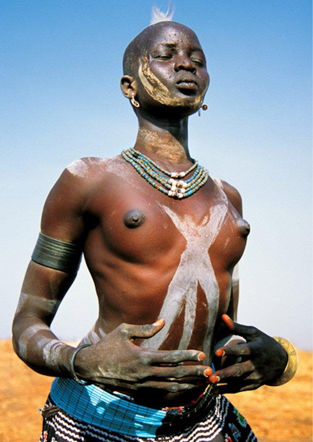 Dinka Woman Dancing