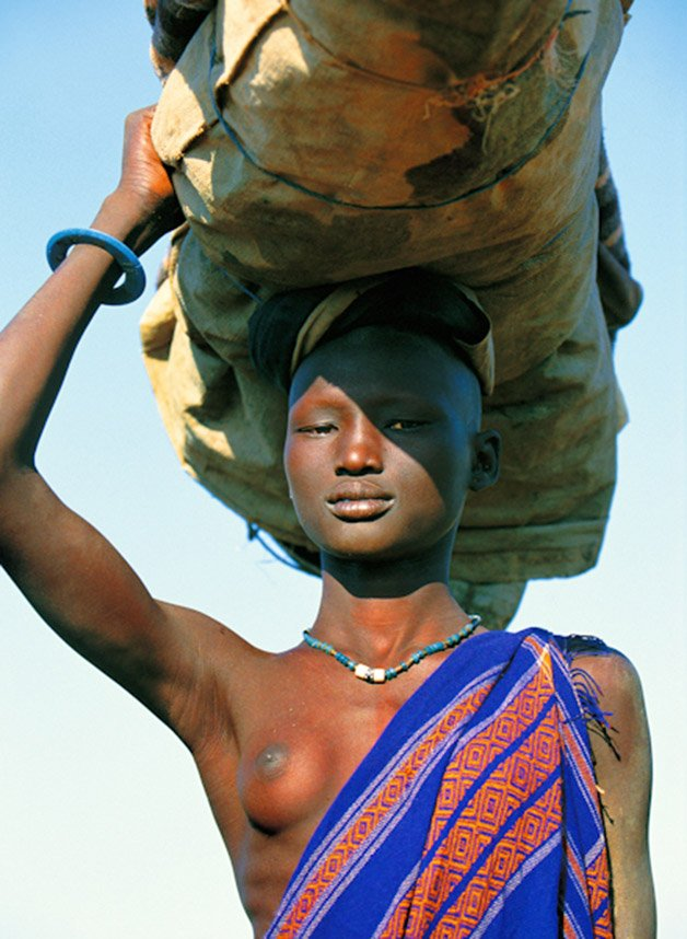 Dinka Woman Carrying Load