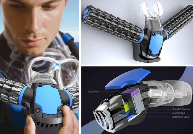 Máscara de mergulho inovadora extrai oxigênio da água e dispensa uso de cilindros