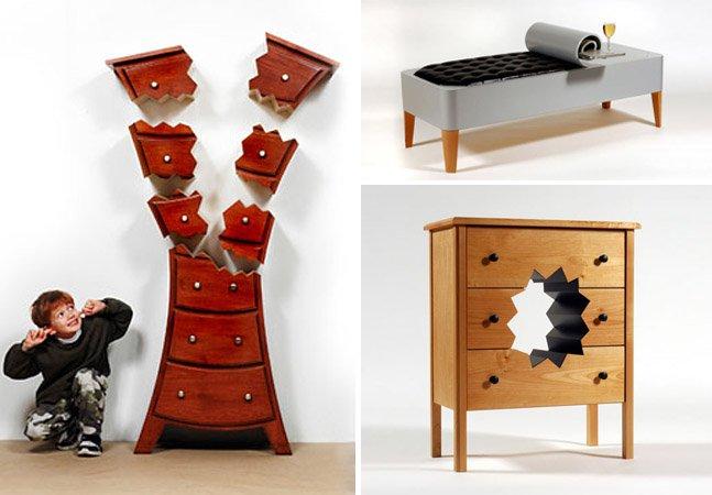 Designer abusa da criatividade e cria móveis que parecem ter sido tirados de desenhos animados
