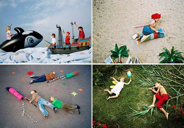 Fotógrafo usa a criatividade para colocar crianças em aventuras imaginárias