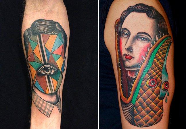 Arte na pele: viaje no universo surrealista deste incrível tatuador italiano