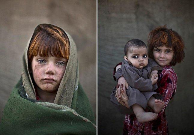 Fotógrafo documenta as expressões de crianças refugiadas do Afeganistão