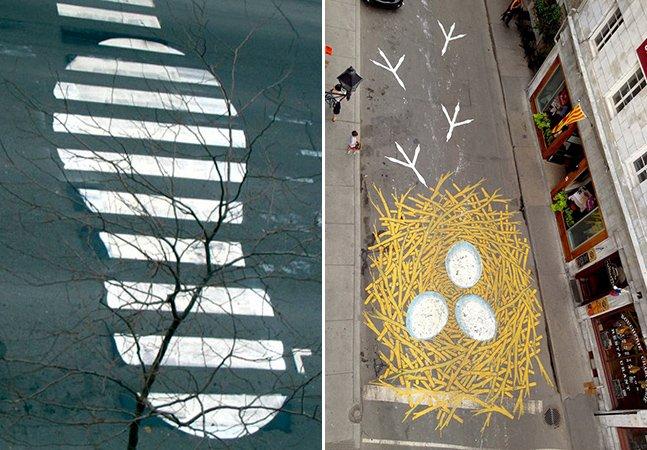 O artista que já foi incriminado por sua arte sarcástica, mas que continua espalhando suas mensagens pelas ruas