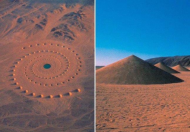 """Intervenção artística feita com areia  no deserto há 17 anos vai fazer você repensar sobre o termo """"épico"""""""
