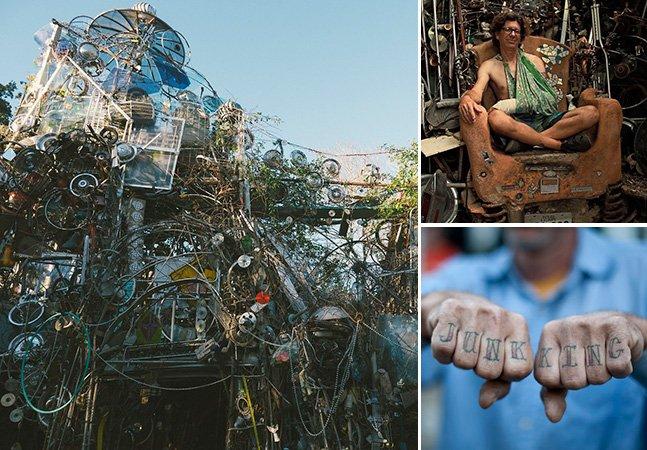 Homem passa anos construindo uma excêntrica catedral feita com 60 toneladas de lixo