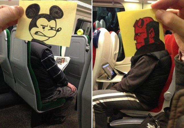 Essa é uma das formas mais criativas que já vimos de passar o tempo no trem ou metrô