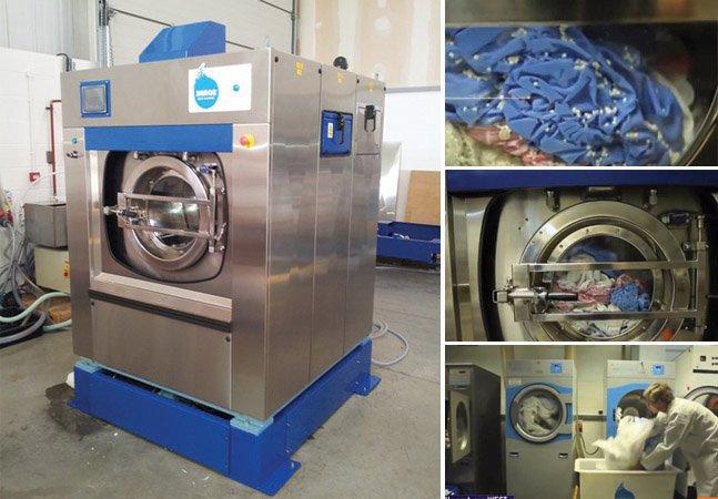 Máquina de lavar roupas inovadora usa apenas um copo de água e um detergente reciclável durante a lavagem