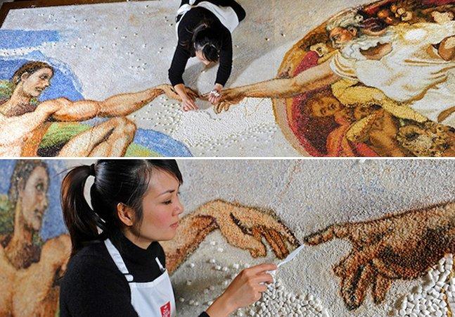 Artista usa 10 mil marshmallows e outras decorações pra bolos pra recriar obra de arte icônica