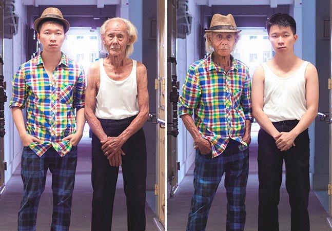 Série fotográfica divertida mostra filhos trocando de roupa com os pais