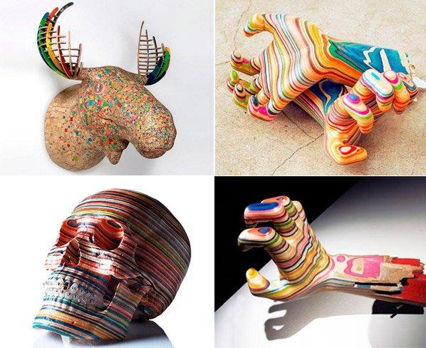Você não vai acreditar qual material esse escultor autodidata usa pra criar essas esculturas fantásticas