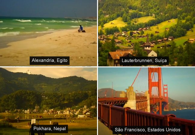 Casal dá a volta ao mundo e publica vídeo com 1 segundo de cada dia