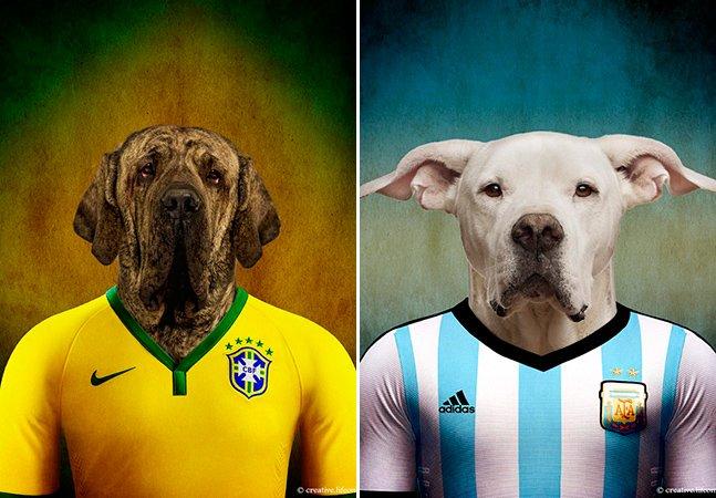 Campanha criativa para a Copa do Mundo coloca cães com as camisas dos seus países<!--:en-->