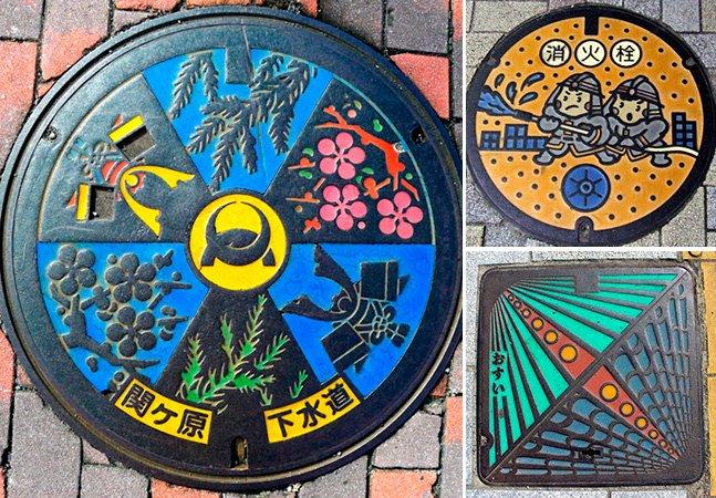 A incrível arte em tampas de bueiros que virou mania no Japão