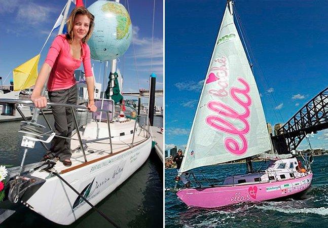 Ela foi a pessoa mais nova a dar uma volta ao mundo de barco sozinha