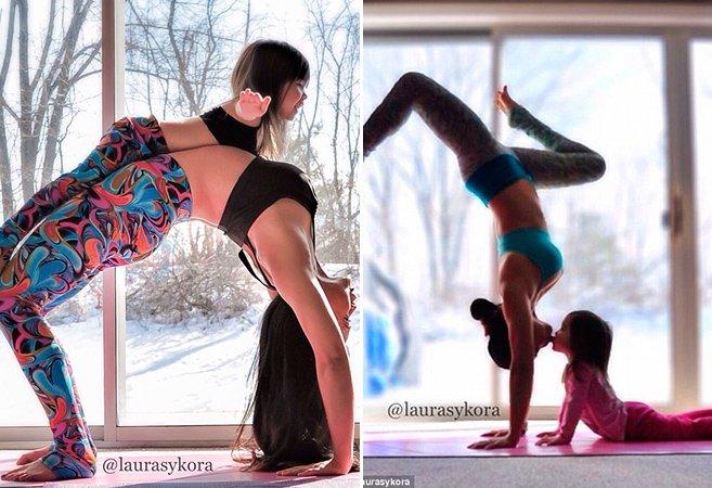 Essa série de fotos de uma mãe fazendo yoga com a filha de 4 anos vai te conquistar