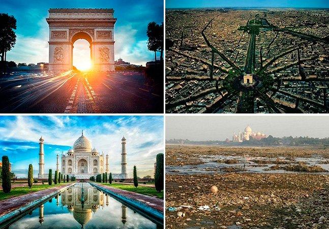 Série de fotos mostra pontos turísticos famosos pelo mundo de um ângulo que você nunca viu antes
