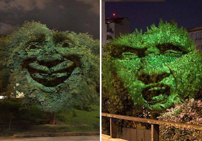 """A """"árvore que sente"""" muda de humor conforme a qualidade do ar na cidade"""
