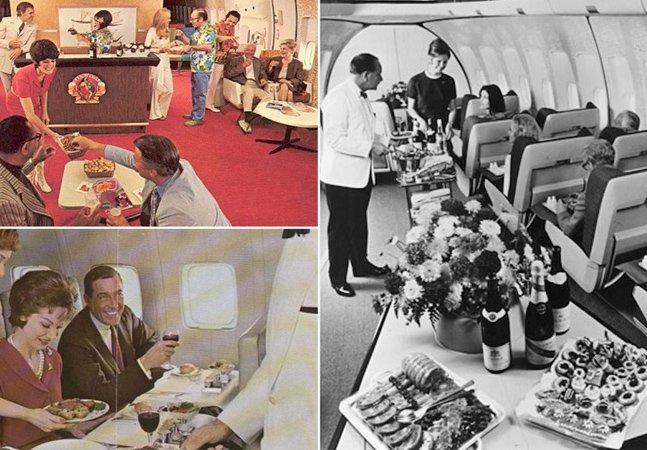 Série de fotos mostra como eram as viagens de avião no passado