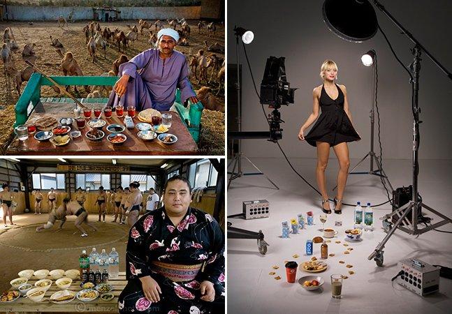 Série fotográfica mostra o que pessoas de diferentes países comem num dia