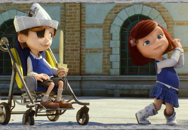 Curta encantador emociona o mundo mostrando a amizade sem preconceitos entre duas crianças