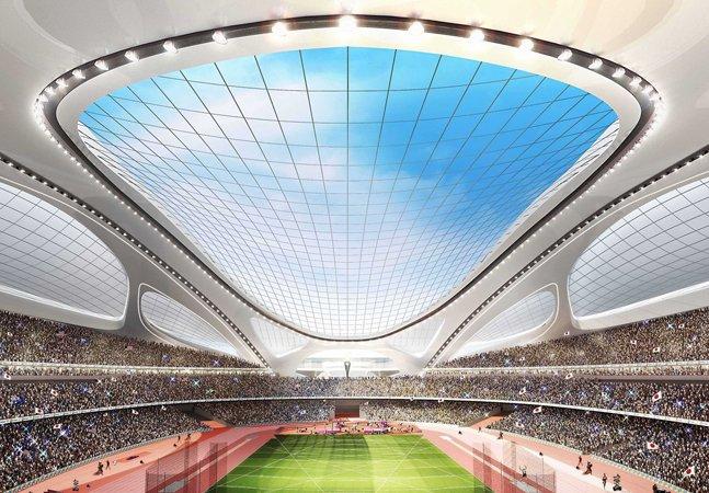 Confira como vai ficar o estádio da abertura dos Jogos Olímpicos de 2020 no Japão