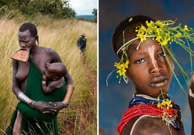 Fotógrafo registra a cultura e as tradições de tribo na Etiópia