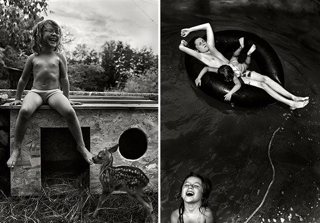 Mais fotos do pai que capta a essência dos 6 filhos criados próximo à natureza