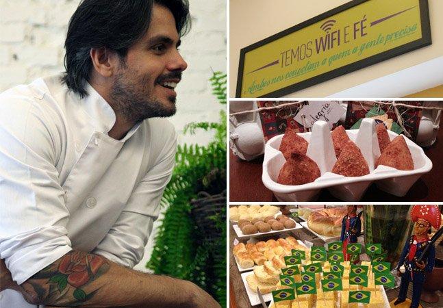 Depois de uma parada cardíaca, ele largou o stress da vida corporativa pra fazer o que realmente ama: ser dono de uma padaria tipicamente brasileira