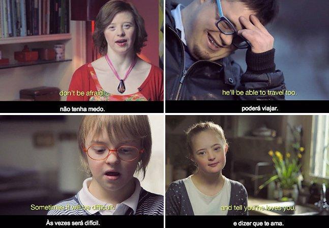Portadores de Síndrome de Down tiram dúvidas de mãe que terá um filho com o mesmo distúrbio. O vídeo  que eles fizeram é encantador.