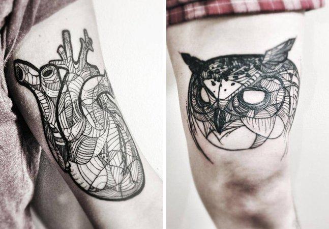 As tatuagens detalhadas e surpreendentes de Nouvelle Rita