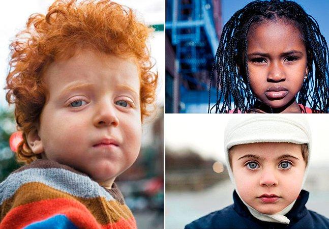 Fotógrafo percorre as ruas de Nova York para captar fotos apaixonantes de crianças de 169 países
