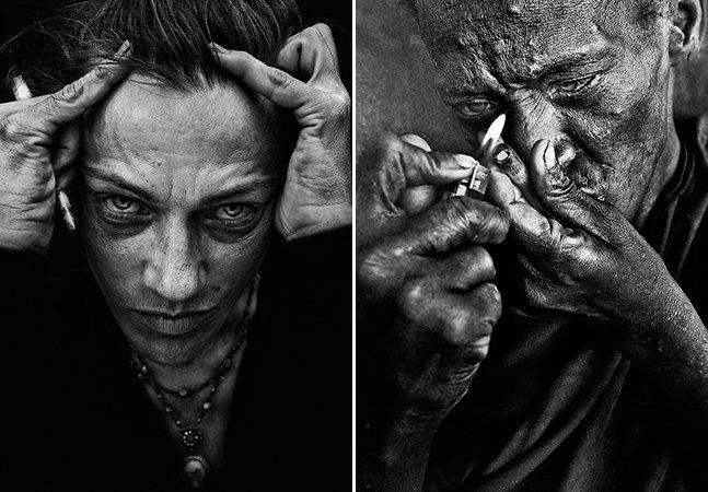 Série de fotos retrata as expressões dos excluídos da sociedade