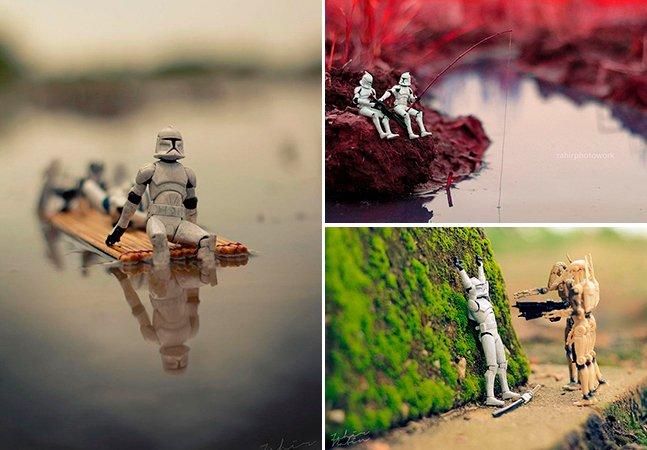 Fotógrafo dá vida a miniaturas da saga Star Wars em série divertida