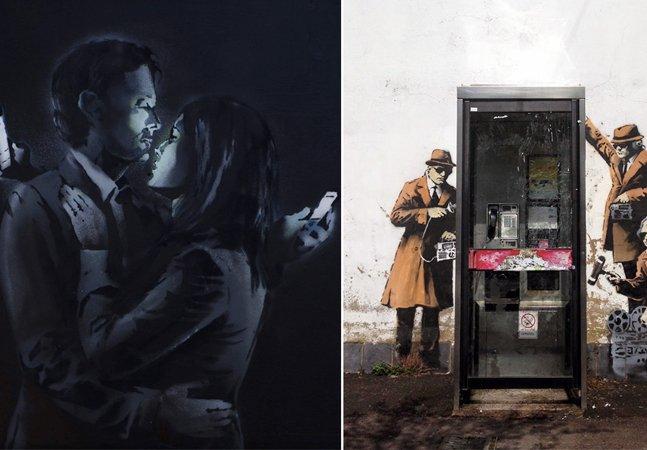 Conheça as novas artes e críticas à sociedade do artista Banksy