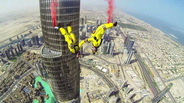 Base Jump no Burj Khalifa