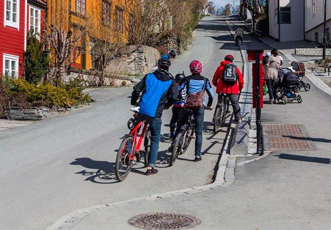 Fôlego extra: confira a engenhoca que dá um empurrãozinho ao ciclista na hora de subir ladeiras
