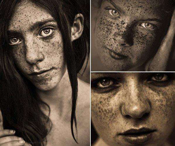Fotógrafo retrata de perto a beleza de pessoas com sardas