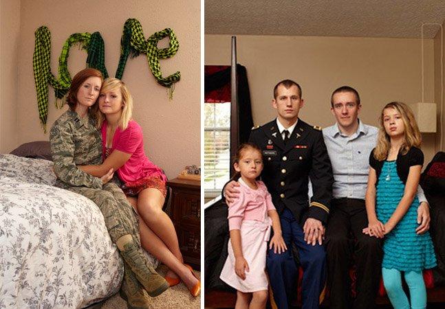 Projeto retrata soldados americanos homossexuais com seus parceiros