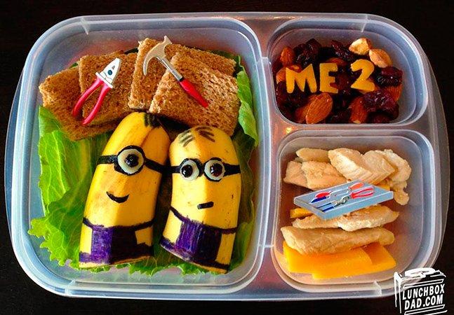 Pai encontra forma criativa de incentivar a filha trocar o fast food da escola por lanches saudáveis
